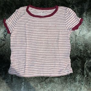 American eagle pink striped T-shirt